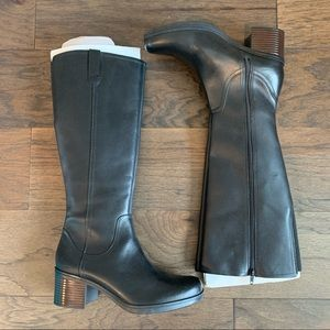 NEW Clarks Hollis Moon Knee High Riding Boots